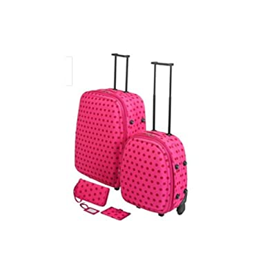 5 Pc Polka dot luggage set by Constellation