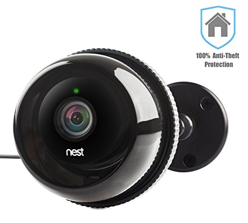 Nest Cam Case / Outdoor Nest Camera / Dropcam Pro Camera Cases w/ Gooseneck Wall Mount in Black by Dropcases - 100% Night Vision & Built-In Heat Sinks - IP 66 - Anti-Theft Protection (Dropcam Pro Outdoor compare prices)