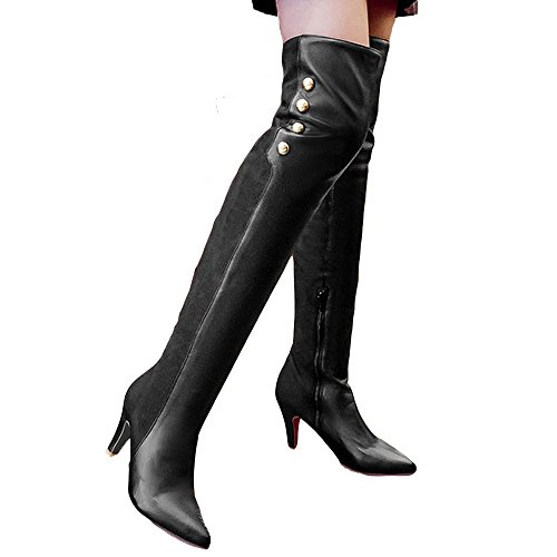 Shoe' (Red Leather Thigh High Boots)