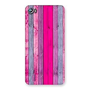 Stylish Pink Wall Multicolor Back Case Cover for Micromax Canvas Fire 4 A107