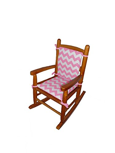 Baby Doll Chevron Junior Rocking Chair Pad, Pink