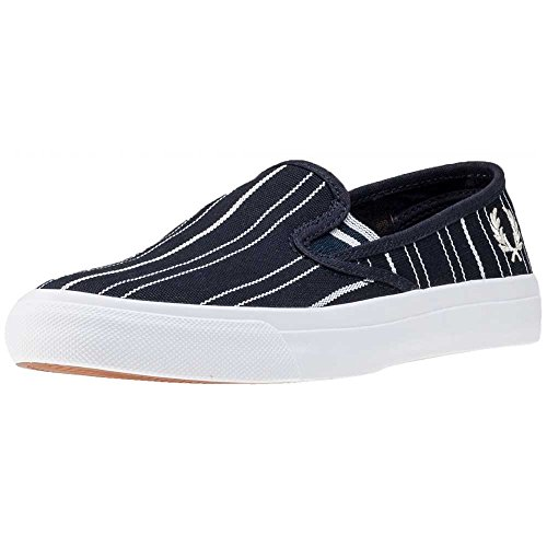 Fred Perry Authentics Turner Slip On Retro Stripe Pumps NAVY 6