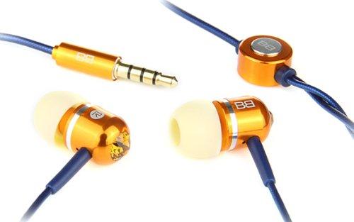 Bassbuds Faschion Collection Candy - Auricolari ricoperti in oro con inserti Swarovski originali, connettore da 3,5 mm