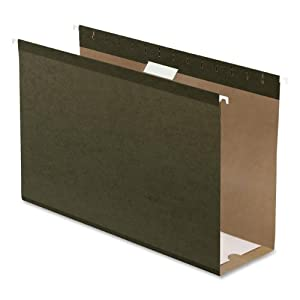Pendaflex 4153X4 Hanging Box Bottom Folder, Standard Green, Legal Size, 25 per Box