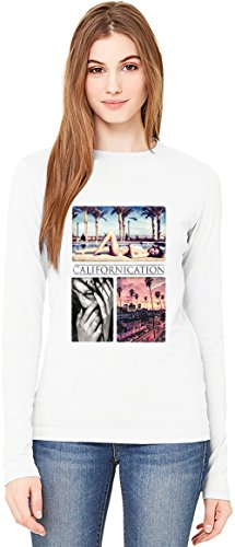 Californication Deadly Sins T-Shirt da Donna a Maniche Lunghe Long-Sleeve T-shirt For Women| 100% Premium Cotton| DTG Printing| XX-Large
