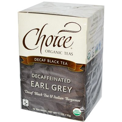 Choice Organic Teas Organic Decaffeinated Earl Grey Tea - 16 Tea Bags (Pack Of 6) - Pack Of 6