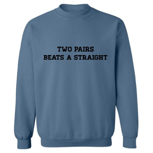 Pride Universe Two Pairs Beats A Straight Adult Sweatshirt (Indigo, Xl)