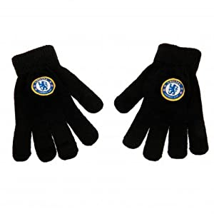 Chelsea F.C Knitted Gloves Junior - Official Merchandise