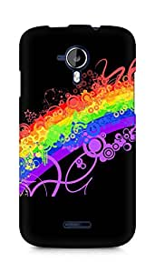 Amez designer printed 3d premium high quality back case cover for Micromax Canvas Magnus A117 (Rainbow colorful lines pattern)