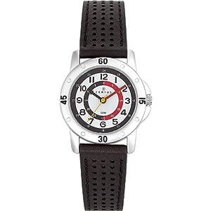 Certus - 647494 - Montre Enfant - Quartz Pédagogique - Cadran Blanc - Bracelet Synthétique Noir