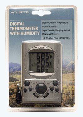 AcuRite 00891A1 Indoor and Outdoor Thermometer with Humid - 1