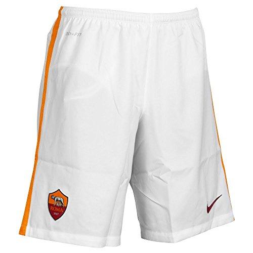Pantaloncini da Calcio Roma Away 2015/2016, Bambino, Bianca, Taglia XL (16/18 Anni)