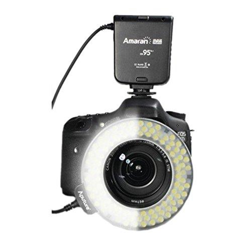 Aputure Hc100 Cri 95+ Amaran Halo Led Macro Ring Flash Light For Canon Eos 7D 6D 50D 5D Mark Iii 5D Mark Ii 700D 70D 650(T4I)
