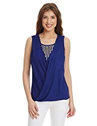 Shakumbhari Women's Body Blouse Shirt (SW-741_Blue_Large)