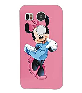 PrintDhaba Minnie Mouse D-5334 Back Case Cover for LG NEXUS 5X (Multi-Coloured)