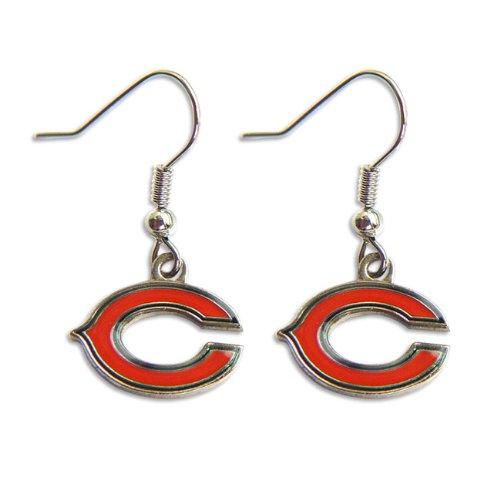 Chicago Bears Dangle Logo Earring Set Charm Gift