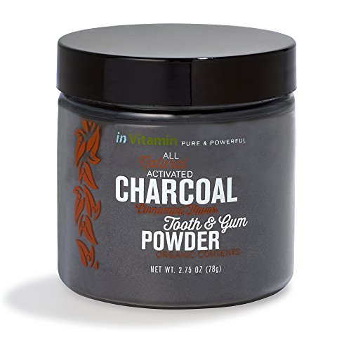 Natural Whitening Tooth & Gum Powder with Activated Charcoal (2.75 oz Cinnamint) (Carbon Teeth compare prices)