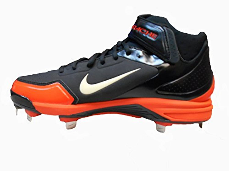 Nike Air Huarache 2KFresh Metal Men's Baseball Cleats (13, Black/White-Game Orange)