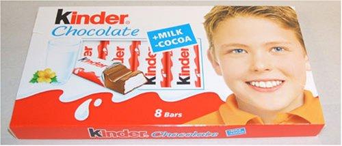 Kinder Chocolate Milk And Cocoa Chocolate 8 Bars Pack Ten