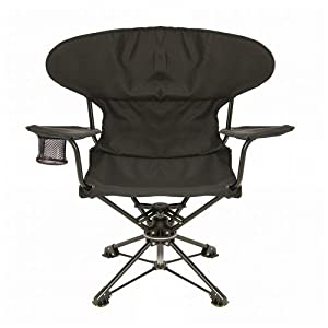 rEvolve Swiveling Portable Chair, Black
