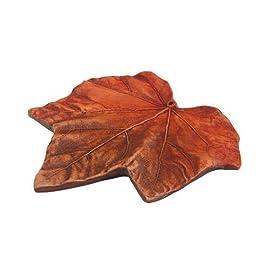 Arce de barro - incensario, incensario de barro hojas de diámetro 16 cm, ahumado-accesorios