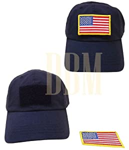Tactical Special Force Hat Cap With Removable Detachable USA American Flag Navy