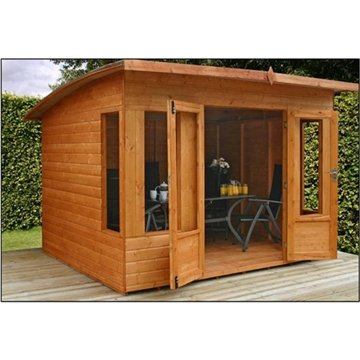 OXFORD: 10ft x 8ft Helios Summerhouse (10mm Solid OSB Floor)