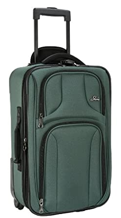 Skyway Luggage Sigma 3 Expandable Vertical Carry-On Case, Sage, One Size