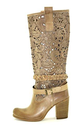 Shoesbooking collection - Cod. SB-1601-TP, taupe, stivali donna, stivali texani, stivali estivi, made in Italy, in vera pelle artigianali (38)
