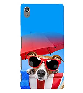 printtech Cool Dog Glasses Back Case Cover for Sony Xperia Z5 Premium Dual