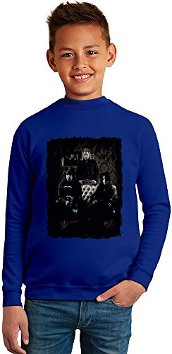 Sixx:A.M. Group Superb Quality Boys Sweater by TRUE FANS APPAREL - 50% Cotton & 50% Polyester- Set-In Sleeves- Open End Yarn- Unisex for Boys and Girls 13-14 years