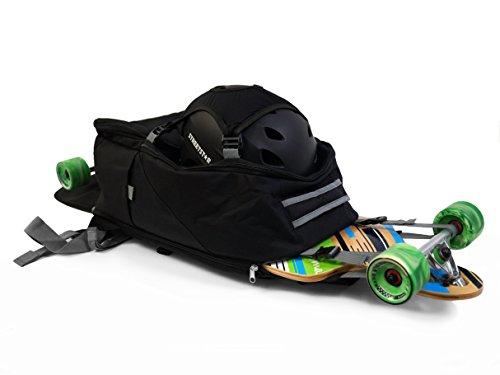 """MAXOfit® Longboard Rucksack """"LB-Pro"""" mit viel Stauraum und coolen Extras"""