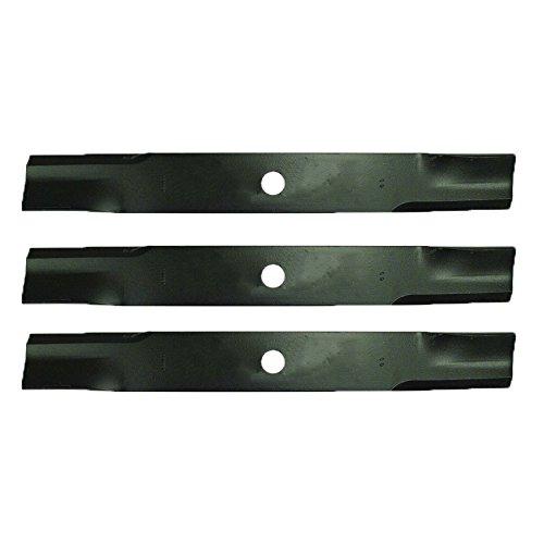"3 Pack of Hi-Lift Blades for John Deere 400-455, 670-955 Tractors 60"" Decks AM100538, M141785, M87622"