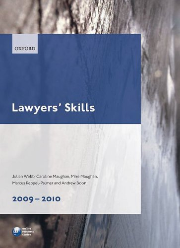 Lawyers' Skills 2009-10 (Blackstone Legal Practice Course Guide)