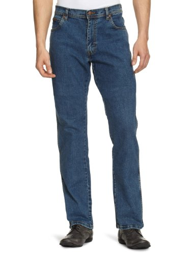 Wrangler Texas Stretch Herren Regular Fit Jeans, Blau (STONEWASH), Gr. W36/L36