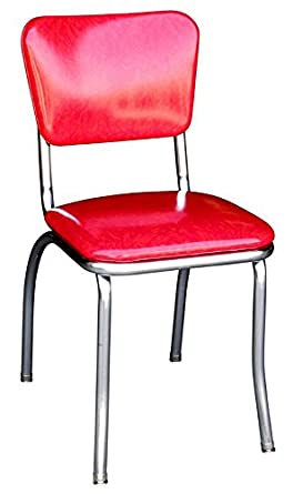 red cracked ice retro diner chair industrial