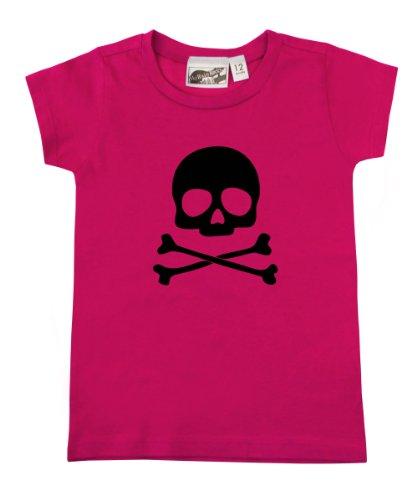 Skull & Crossbones Hot Pink & Black Baby & Toddler T-Shirt (2T) front-966854
