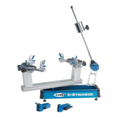 Gamma X-6 Tennis Stringing Machine, Blue/Silver