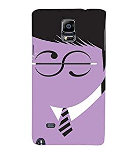 PrintVisa Funny Harry Potter Design 3D Hard Polycarbonate Designer Back Case Cover for Samsung Galaxy Note 4