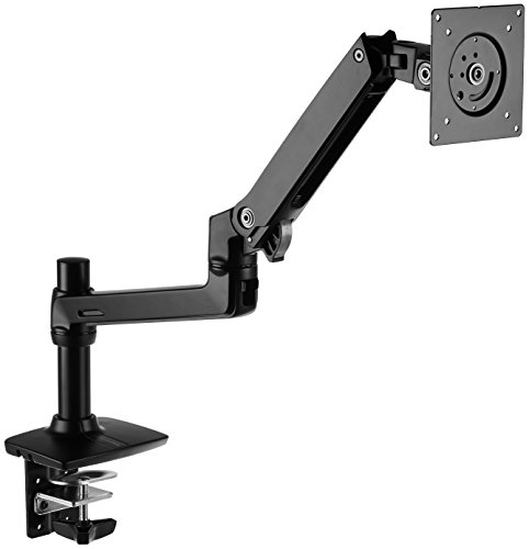 아마존 베이직 싱글 모니터 스탠드, 한국 직배송 AmazonBasics Premium Single Monitor Stand - Lift Engine Arm Mount