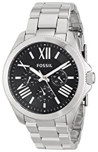 Fossil Women's AM4534 Cecile Analog Display Analog Quartz Silver Watch