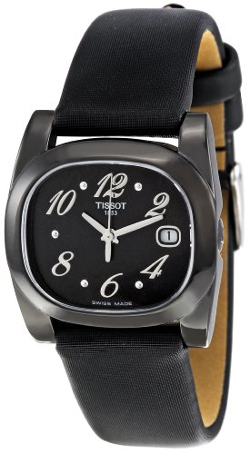De las mujeres de Tissot t009, 110,17,057,00 con esfera negra y el reloj de los momentos de T