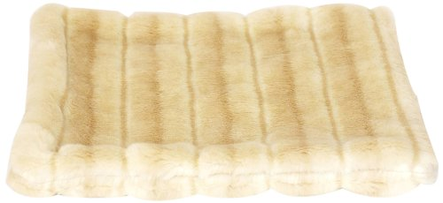 The Dog Squad All Plush Kennel Pet Bed Cover, Caramel Ocelot
