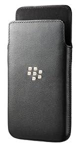 BlackBerry ACC-49276-201 Carbon Look Ledertasche für Z10 Handy schwarz