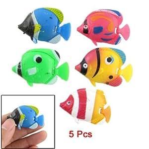 Amazon.com : 5 piezas de colores surtidos pescado de plástico para
