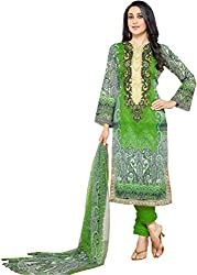Lebaas Cotton Embroidered Salwar Suit Dupatta Material (Un-stitched) - (With Discount and Sale Offer))