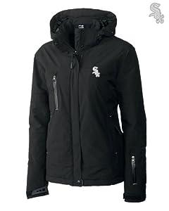 Chicago White Sox Ladies WeatherTec Sanders Jacket Black by Cutter & Buck