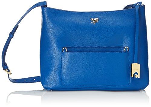 Piero Guidi Magic Circus Classic Leather Borsa a Tracolla, 29 cm, Blu Cobalto