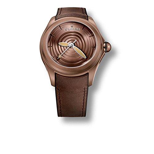 Corum Heritage Homme Bracelet Cuir Marron Saphire Automatique Analogique Montre 082.311.98/0062 OP01 R