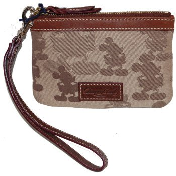 Disney Dooney &#038; Bourke Mickey Mouse Tonal Wristlet